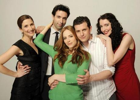 "Alex Karpovsky with the cast of ""Rubberneck.''"